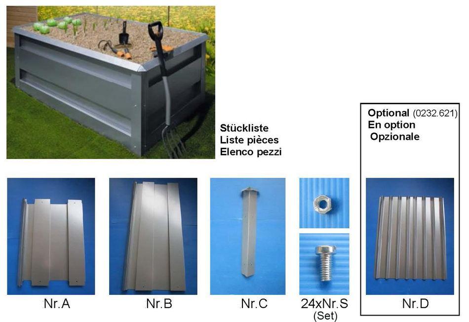 Hochbeet Aus Verzinktem Stahl 1 60 X 1 0 X H 0 75 M Diverse Hochbeete